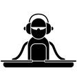 DJ Logo vector image