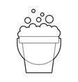 laundry bucket with foam vector image