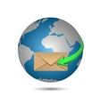 Message and globe vector image