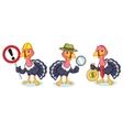 Turkey Mascot with money vector image