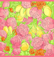 floral peonies background vector image vector image