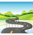 A very narrow curve road vector image vector image
