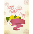 happy thanksgiving day with sticker vector image