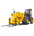 detailed ial image of modern yellow telescopic loa vector image