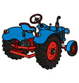 Classic blue tractor vector image