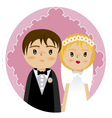 grooms and wedding 2 vector image