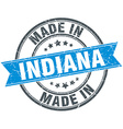 made in Indiana blue round vintage stamp vector image