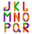 alphabet from constructor from J to R vector image