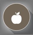 apple sign white icon on vector image