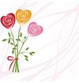 art heart rose vector image