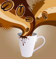 coffee explosion vector image