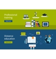 Distance education and e-learning vector image