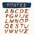 Handcrafted Alphabet in Retro Poster Style vector image
