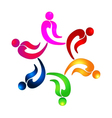 Teamwork party people logo vector image