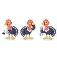 Turkey Mascot with phone vector image