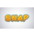 snap comic pop art style vector image vector image