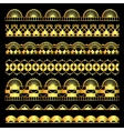 Golden set of lace ribbons vector image vector image