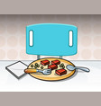 meal on table vector image vector image
