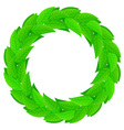 wreath of leaves vector image