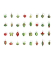 Set of different Christmas decorations isolated on vector image vector image