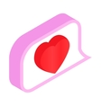 Watching message isometric 3d icon vector image