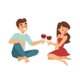 date flirting boy and girl vector image