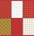 christmas and happy new year seamless pattern set vector image