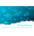 christmas background with snowflakes in blue color vector image