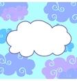 daytime cartoon clouds frame vector image