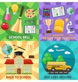 Education Flat Compositions vector image