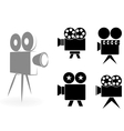 icons of video cameras vector image