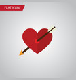 isolated arrow flat icon heart element can vector image