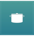 kitchen icon of pan vector image