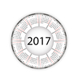 round calendar for 2017 year vector image