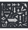 set of various arrows icons logos vector image