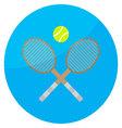 Tennis sport icon vector image