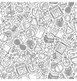 Cartoon cute hand drawn Science seamless pattern vector image