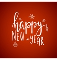 happy new yearcard lettering vector image vector image
