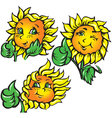 funny sunflower shows ok vector image vector image
