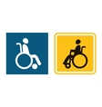 Disabled sign icon Man in wheelchair Handicapped vector image