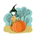 Autumn theme Halloween vector image