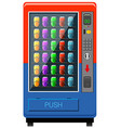 Vending maching in red and blue color vector image