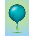 blue sphere with a green drop vector image