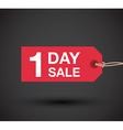 1 day sale sign vector image vector image
