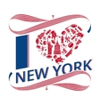 I love New York vector image vector image