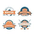 American football basketball soccer hockey vector image vector image