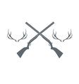 deer hunt icon vector image
