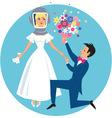 Allergic bride vector image