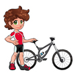 Baby Cyclist vector image