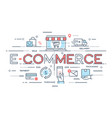 e-commerce online shopping retail sale vector image